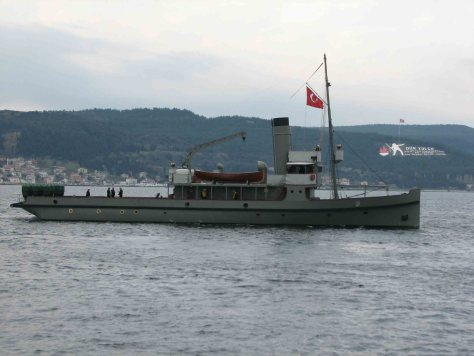 Ottoman minelayer Nusret (replica). Deploying her mines under the cover of darkness in the midst of the Allied operating area, she was responsible for the March 18 outcome, emphasizing the need for persistent MCM efforts during all phases of conflict.