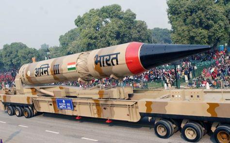 India's Agmi-III intermediate range ballistic missile.