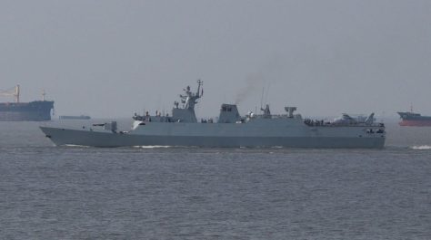 Type 056 corvette. (樱井千一 via Wikipedia)