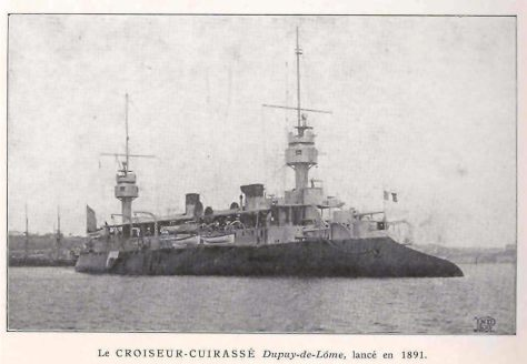 Dupuy de Lôme, an early armored cruiser. (Freshwater and Marine Image Bank)