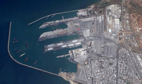 Tartus naval base in Syria. (Google Earth, DigitalGlobe)
