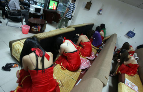 prostitution raid in China