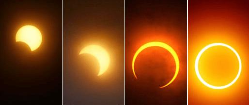 Immagini di eclissi solare