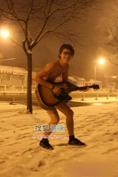 nudi nella neve