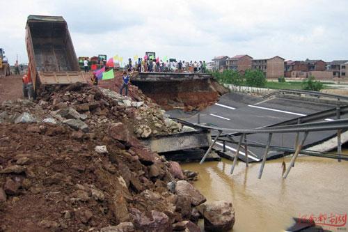 Immagini di alluvioni in Cina