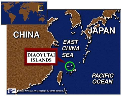 isole Diaoyu mappa