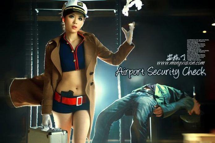 controlli di sicurezza all'aeroporto