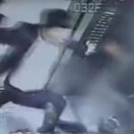 Il video di un uomo che picchia una donna per avere chiesto di smettere di fumare
