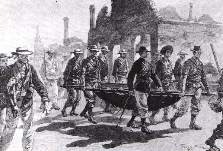 L'ammiraglio Symour si rifugia a Tianjin con i militari feriti.