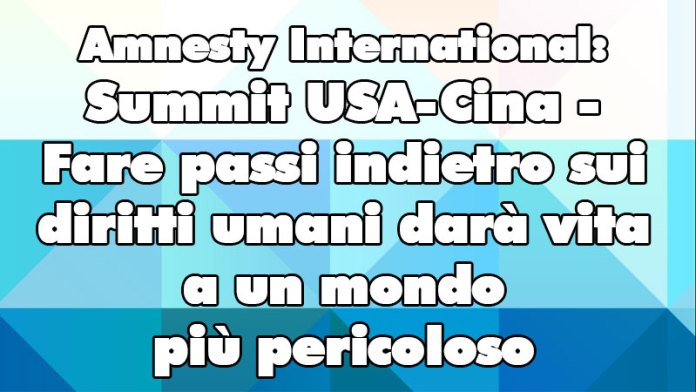 Summit USA-Cina