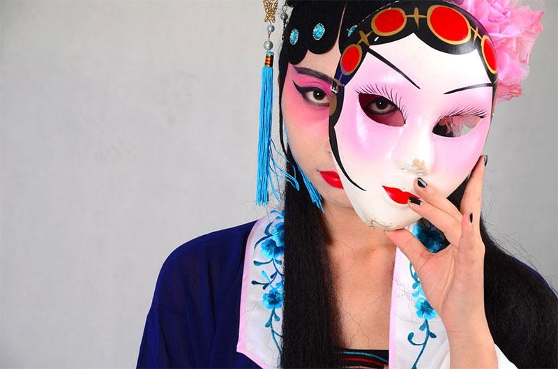 maschere dell'opera di Pechino
