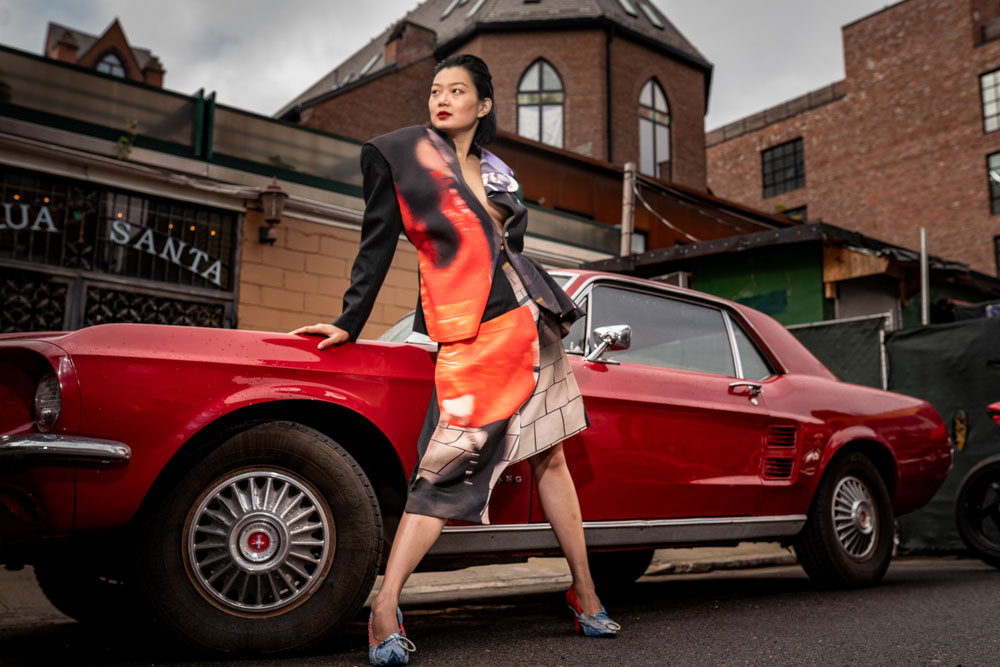 """Model Jennifer Liu during a shoot for Temper Magazine's """"The R-Rated Issue"""" – coming to global audiences in June 2019 – in Williamsburg, Brooklyn, NTC. All rights reserved"""