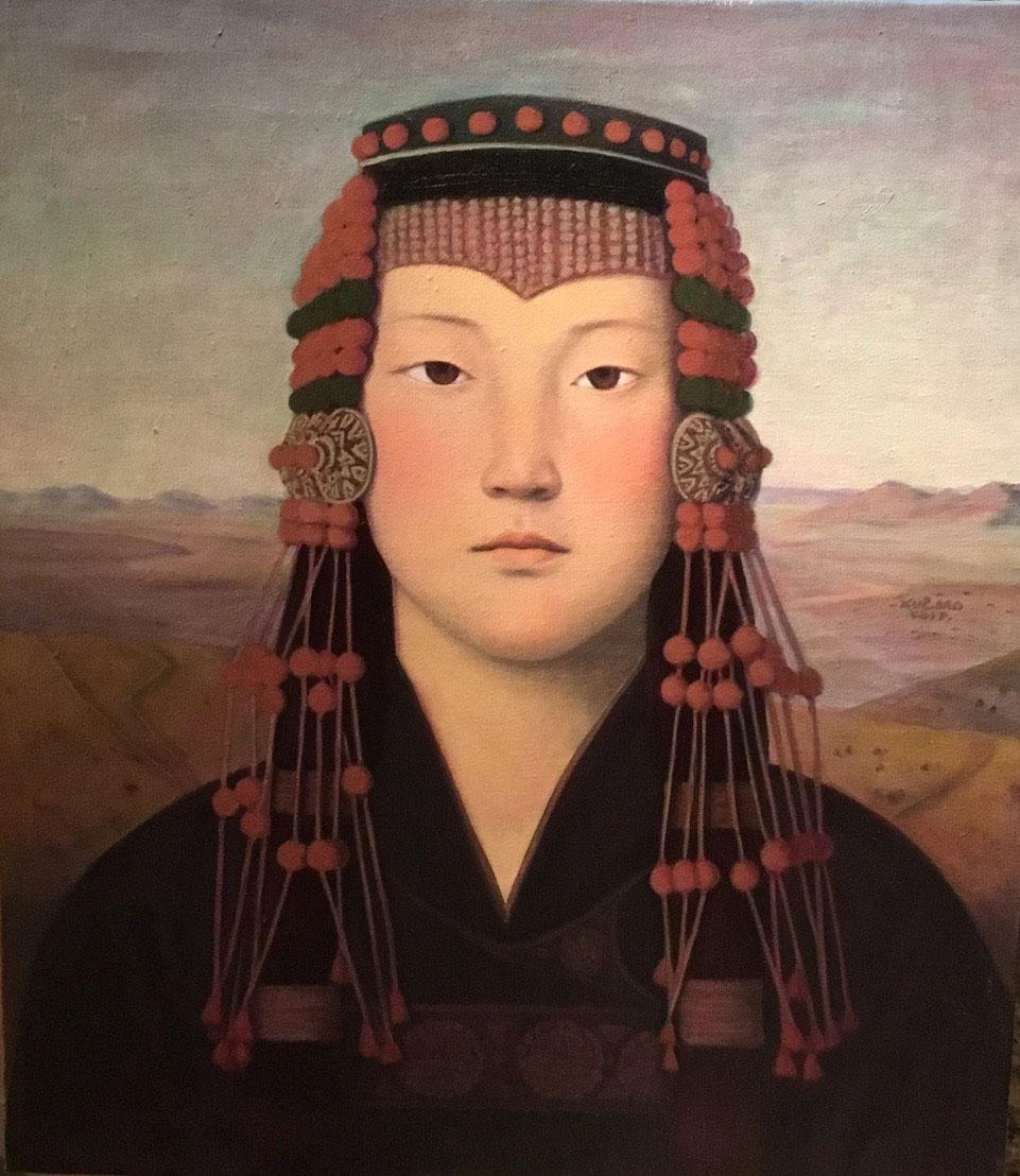 Mongolian-Girl-Series-No.21_Xue-Mo_oil-on-linen_69.5-x-59