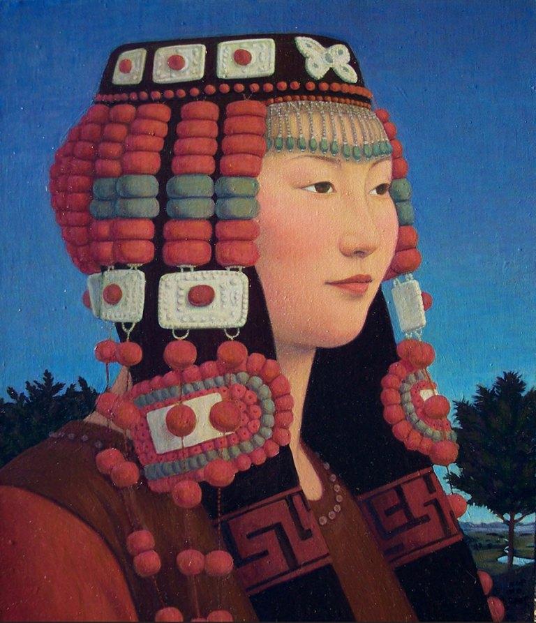 Portrait of Miss Gaowa, oil on linen, 61 x 51 cm, 2009, Karin Weber Gallery