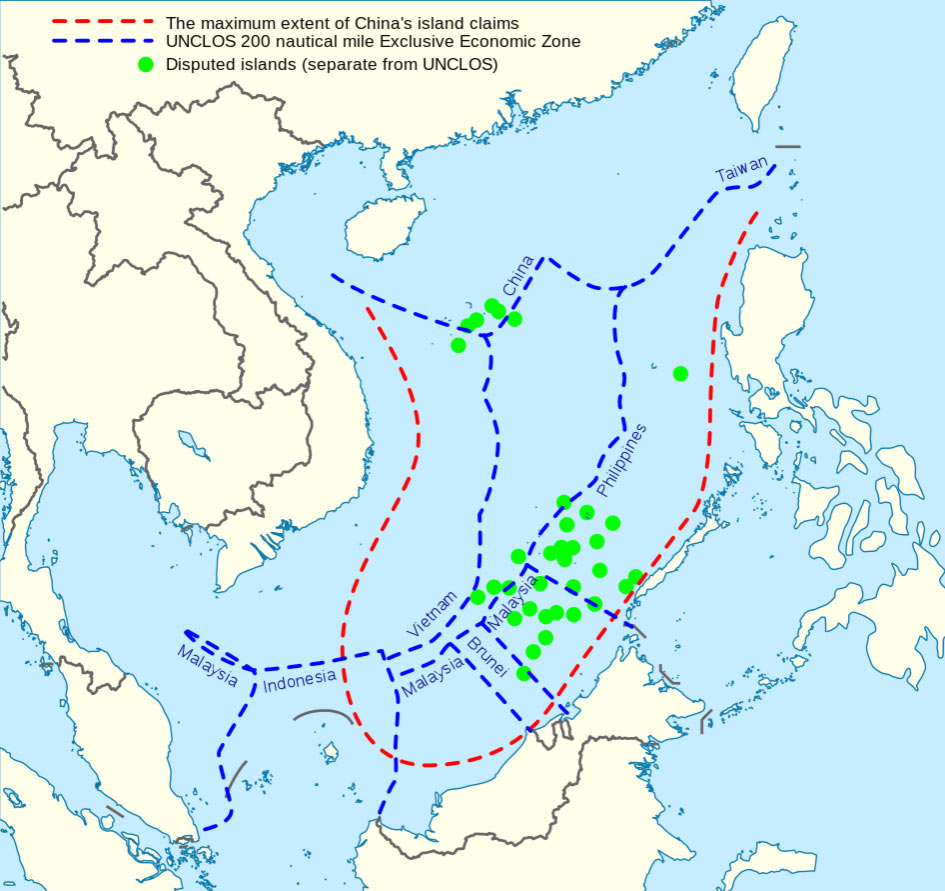 mappa diaoyu