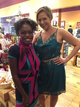 Candace (left) has been volunteering at Dress for Success for 3 years, and also helps at their fashion show fundraisers.