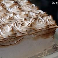 Neapolitan Birthday Cake with Marshmallow Frosting [recipe]