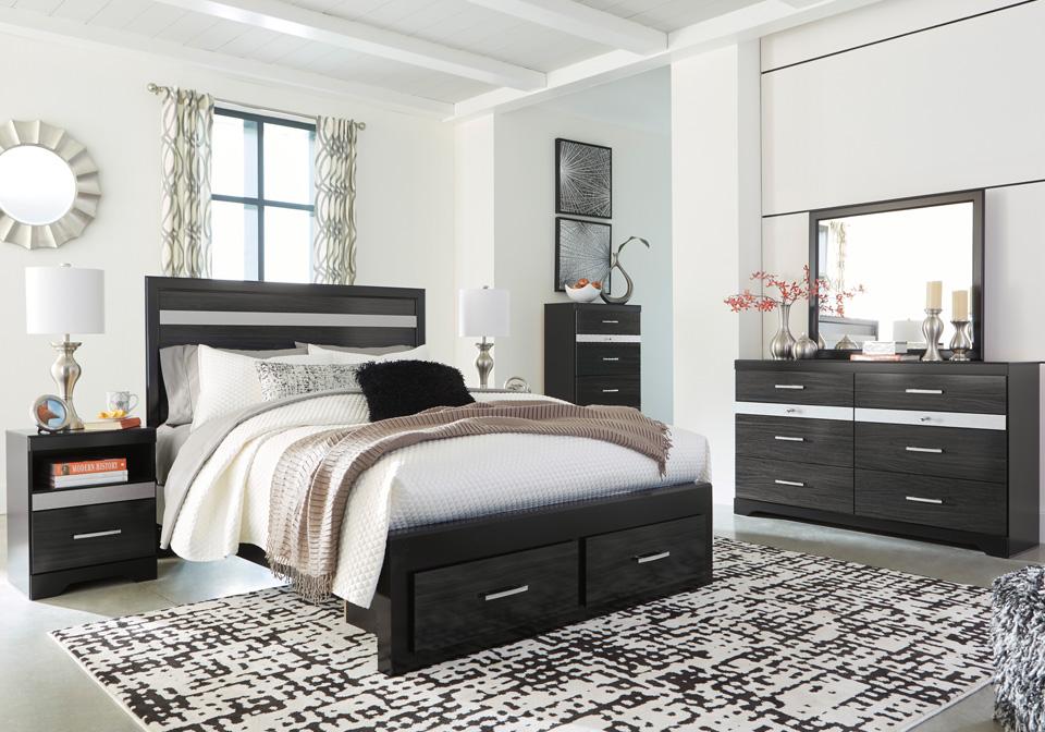 starberry black queen storage bedroom set