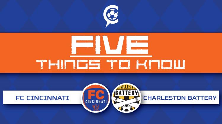 FC Cincinnati at Charleston Battery - 5 Things to Know