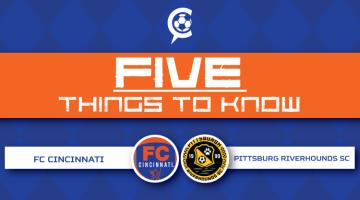 FC Cincinnati vs. Pittsburgh Riverhounds: 5 Things to Know