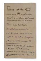Dechado de virtudes - Fotografía cortesía de Museo Amparo