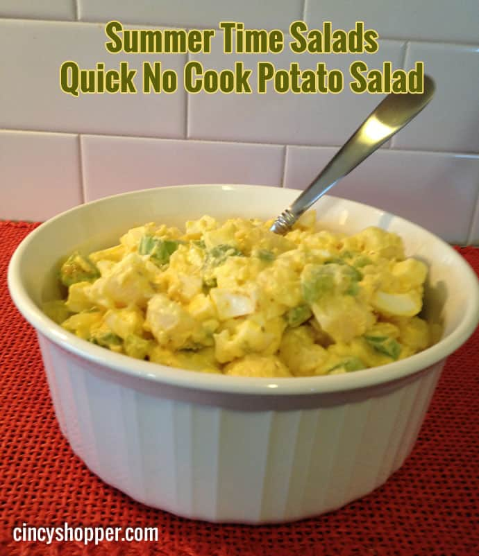 Quick No Cook Potato Salad Recipe - Made with canned potatoes.