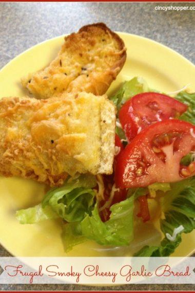 Frugal Smoky Cheesy Garlic Bread
