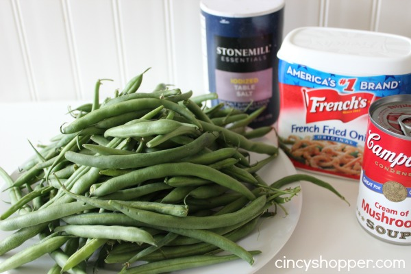 Traditional Green Bean Casserole Recipe Perfect Thanksgiving and Christmas Side. This recipe uses fresh green beans. YUM!
