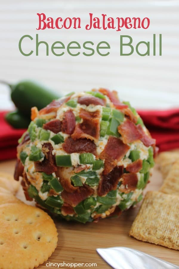 Bacon Jalapeno Cheese Ball - Simple to make. Great for party appetizer.