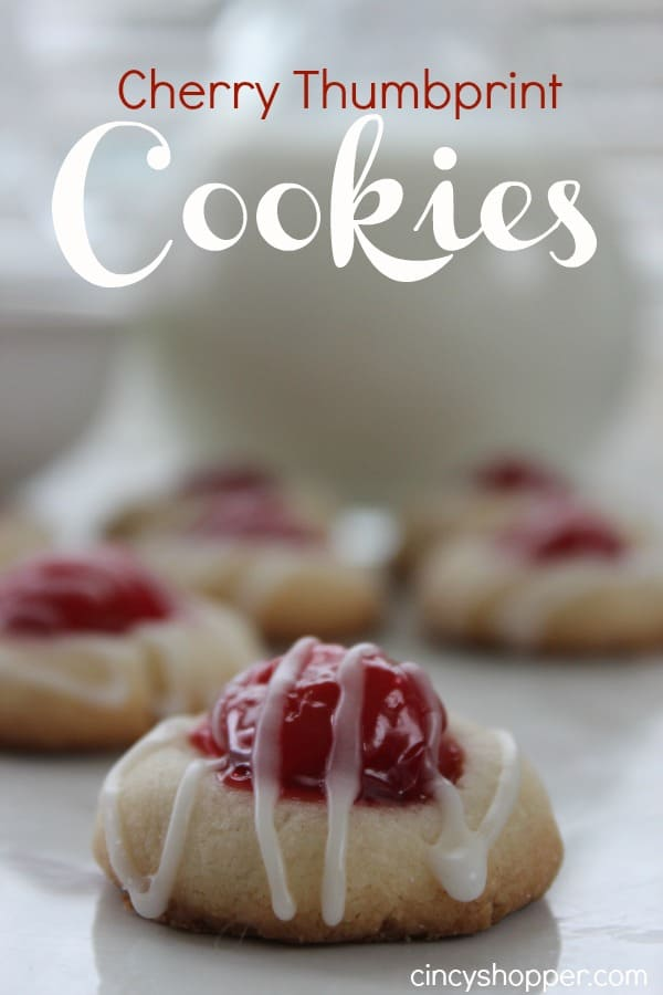 Cherry Thumbprint Cookies _ simple to make. Great holiday cookie.
