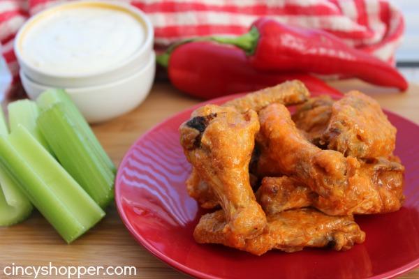 No Fry Buffalo Wings - Crispy Buffalo Wings without frying. Great for feeding a crowd.