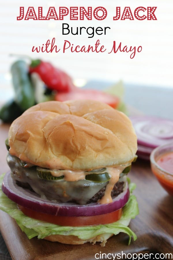 Jalapeno Jack Burger with Picante Mayo
