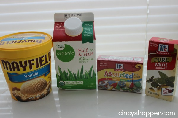 ingredients to make a mint milkshake