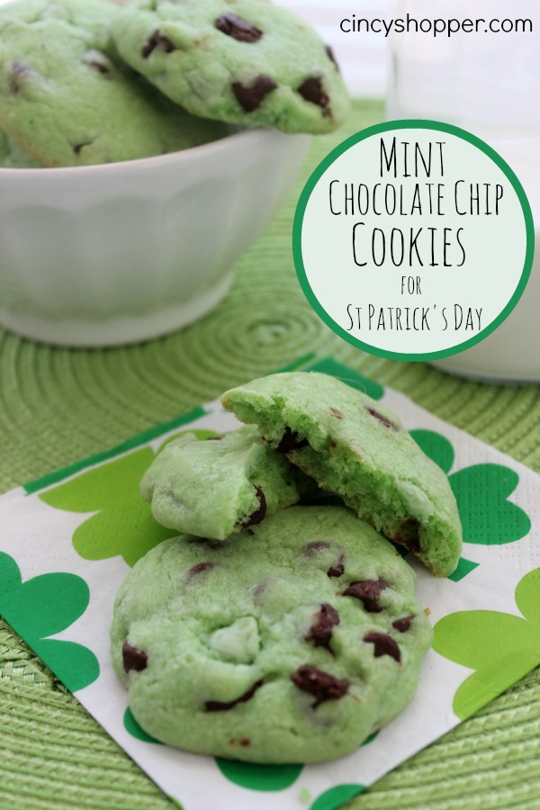 St Patrick's Day Mint Cookies