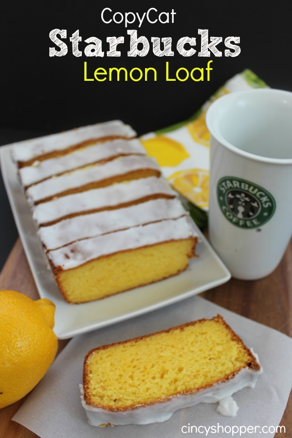 Copycat Starbucks Lemon Loaf - Easy recipe that you can make right at home.