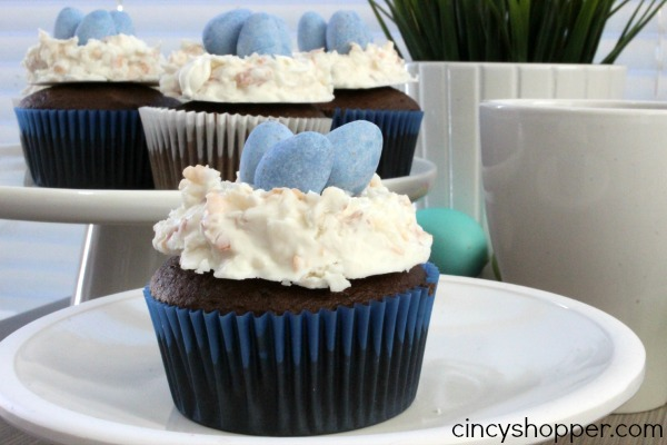 Coconut Birds Nests Cupcakes 2