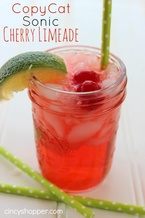 CopyCat Sonic Cherry Limeade- Super Simple! A Super refreshing drink for spring and summer. Save $$'s and make your favorites at home.