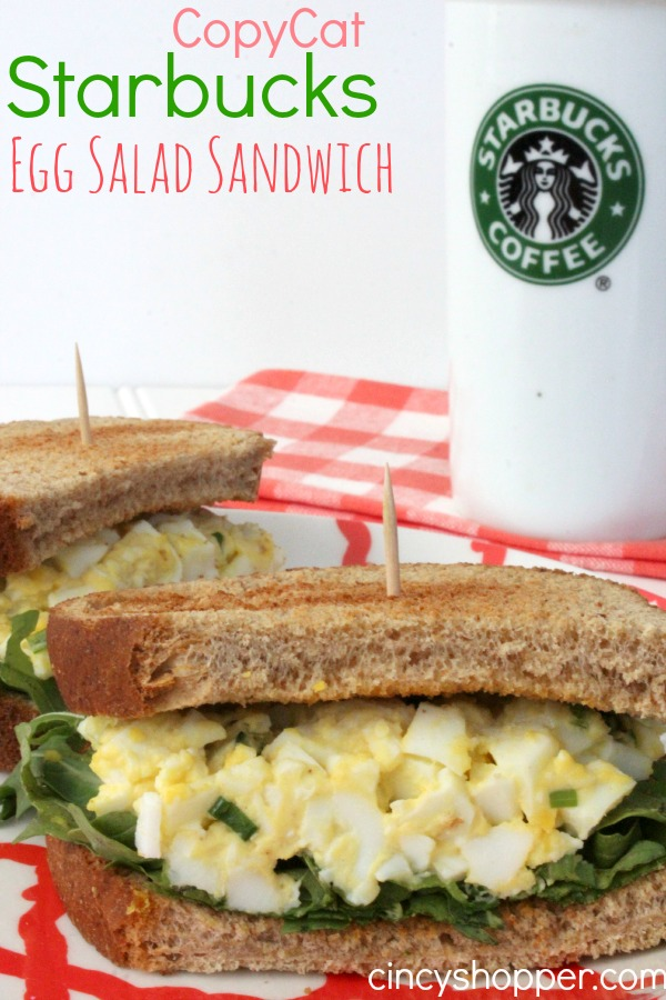 CopyCat Starbucks Egg Salad Sandwich Recipe. A great spring and summer sandwich (plus a great use for extra Easter Eggs).