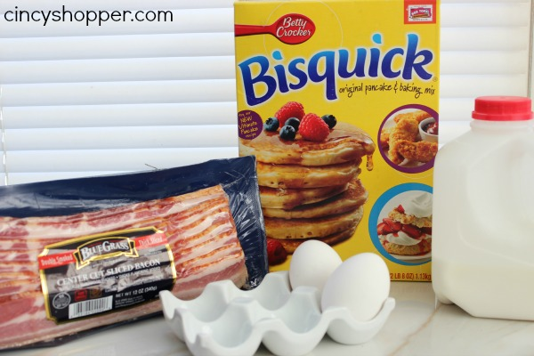 Pancake Bacon Dippers In