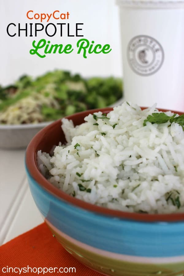 CopyCat Chipotle Lime Rice Recipe