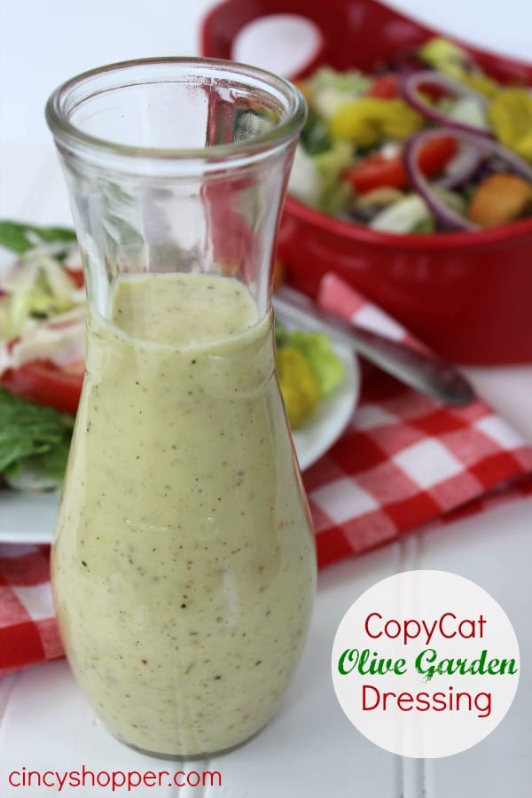 CopyCat Olive Garden Dressing. Perfect dressing so you can enjoy Olive Garden at home. One of my favorite dressings.