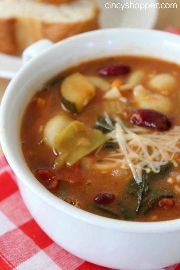 Copycat Olive Garden Minestrone Soup Recipe
