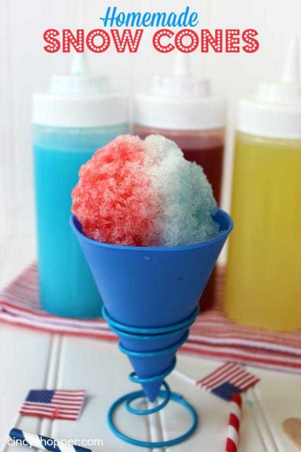 Homemade Snow Cones Recipe
