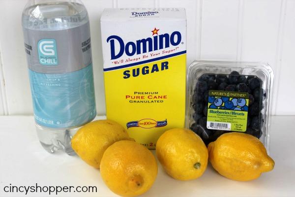 Sparkling Blueberry Lemonade In