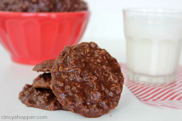No Bake Chocolate Peanut Butter Cookies - Simple to make with no baking needed.