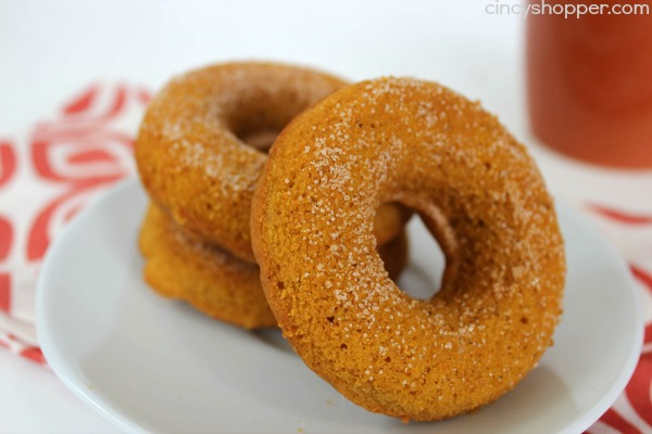 "Baked Pumpkin Donuts Recipe. Easy and perfect for ""On the Go Breakfast"" this fall. Also great for evening dessert."