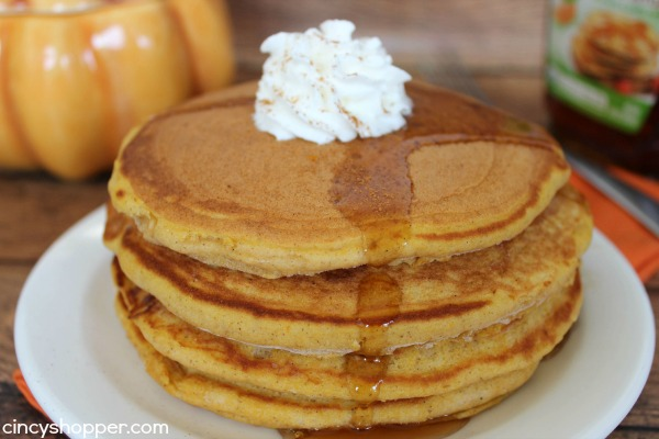 Copycat IHOP Pumpkin Pancakes - perfect fall breakfast. So easy to make at home.
