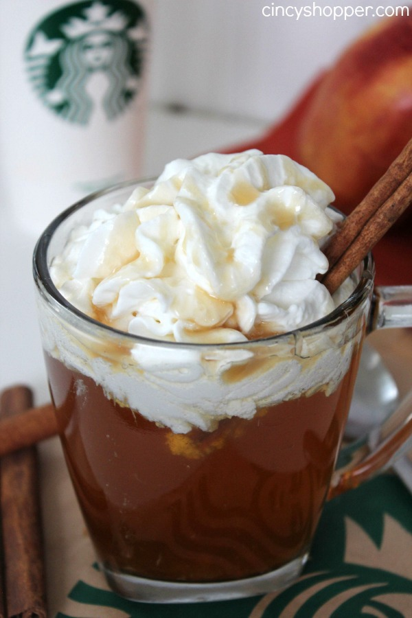 CopyCat Starbucks Caramel Apple Spice Recipe. Includes Syrup Recipe. Perfect to enjoy this fall and holiday season. Saves me $$'s and satisfies my Starbucks addiction