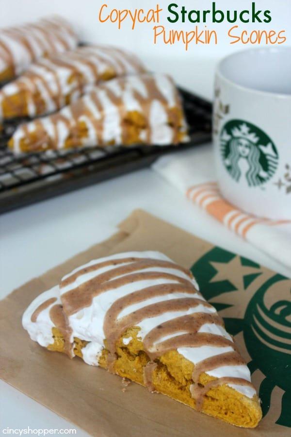 Copycat Starbucks Pumpkin Scone Recipe - Make your favorite fall scone right at home.