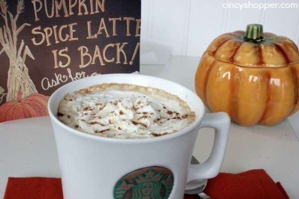 Copycat Starbucks Pumpkin Spice Latte Recipe- Super simple to make right at home this fall.